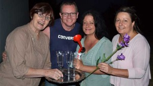The Colac Players perform Doing The Deed... and Other Funny Stuff this month. The show has 15 actors including, from left, Elizabeth Witomski, Michael Ives, Louise Egberts and Kay Widdicombe.