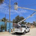 Servicios Públicos trabaja en más de 9 mil lámparas para mantener iluminadas las calles de Los Cabos
