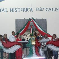FOTO 3 LOS HÉROES QUE LE DIERON PATRIA AL PUEBLO MEXICANO FUERON RECORDADOS CON EL GRITO DE INDEPENDENCIA DESDE LORETO.