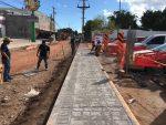 Positivos avances presenta la obra de pavimentación de la calle Independencia
