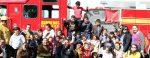 Promueven Bomberos La Paz la proximidad social con niños