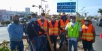 Personal del Centro Misión ADOVI se suman a las tareas de limpieza sobre el bulevar Olachea