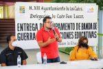 Alcaldesa Armida Castro convoca al estudiantado a no detener su formación durante la entrega de equipo a Bandas de Guerra