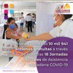 Con 10 mil 941 acciones gratuitas cierran este año las Jornadas Sociales de Asistencia Ciudadana COVID-19