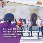 Este 2020 destina Gobierno de Los Cabos $14.8 millones de pesos en apoyos asistenciales y económicos