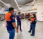 Para que se respeten los lineamientos de higiene en supermercados de Los Cabos, continúa Protección Civil recorridos de vigilancia