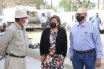 La alcaldesa de Los Cabos Lorena Cortés Torralbo, visitó las instalaciones de Servicios Públicos