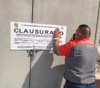 Protección Civil verifica que comercios cumplan con las medidas sanitarias en CSL