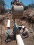 Para que se cumplan las medidas de higiene, sustituye Oomsapas Los Cabos tramo de acueducto que va a Lomas del Sol; mejorará el tandeo en la zona