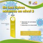 Los Cabos a la baja en el número de casos de COVID-19; se mantiene en nivel 3 del Sistema de Alertas Sanitarias de BCS