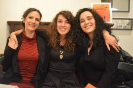 L'autrice assieme a M. Ranaldo (dx) e R. Nigro, dell'Associazione Culturale SMARTLeT