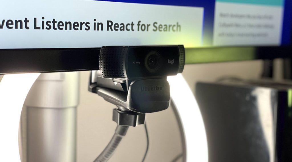Logitech camera under monitor