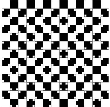 A ilusão: as retas parecem curvas A realidade: elas são tão retas quanto as de um tabuleiro de xadrez