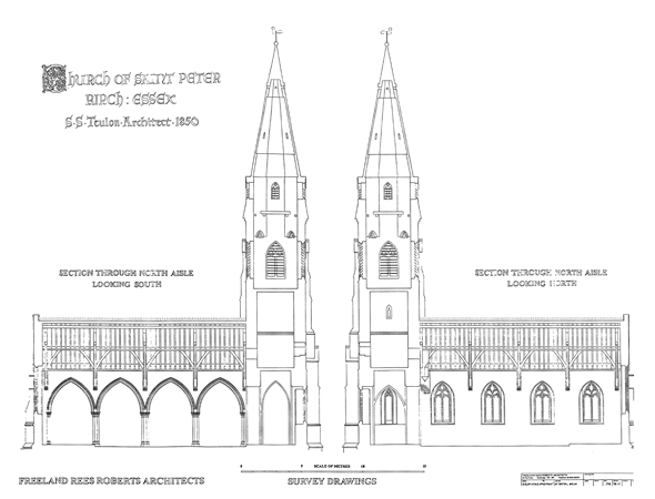 Freeman Rees Roberts Architects - Birch Church section drawings (1998)