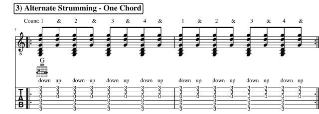 Basic Strumming Pattern Guitar Lesson