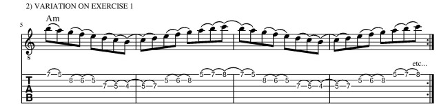 legato exercises number 2 guitar lesson