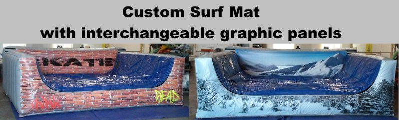 Custom inflatable bull mat/surf mat.