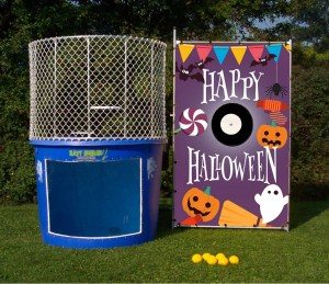 Happy Halloween dunk tank backdrop