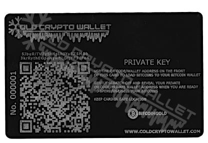 Portfel Bitcoin Gold Angielski - tył