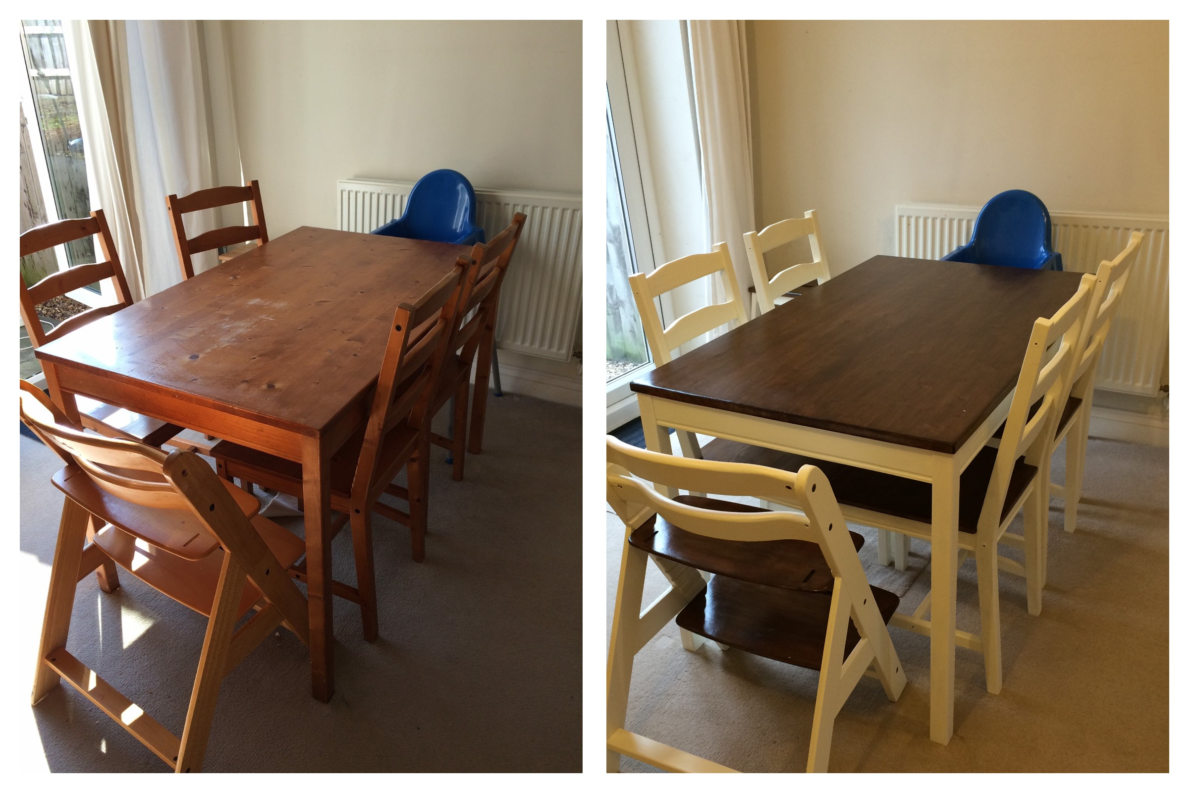 first step high chair big joe roma bean bag cold cuppa club before and after upcycling an ikea