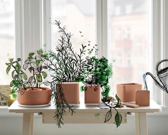 Ikea ANVÄNDBAR collection, self watering pots