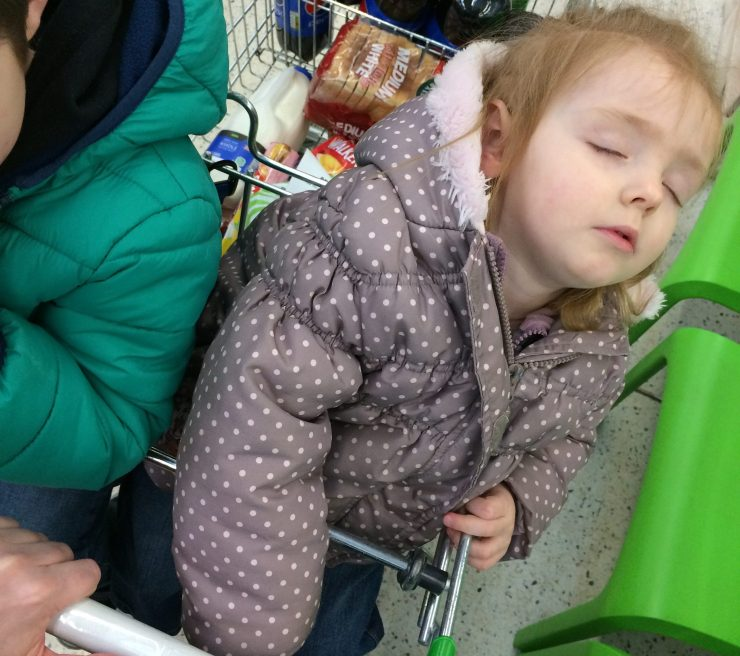 Sleeping in trolley