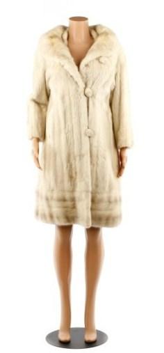 Blonde Mink Stroller Coat