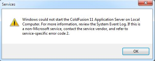 Unable to Start ColdFusion 11, Error at Creation of SecureRandom instance