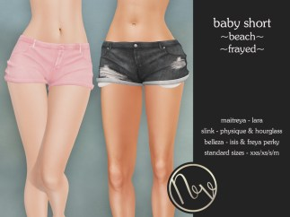 Neve Short - Baby - Beach +Frayed