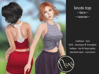 Neve Top - Knots - Lace + Waves