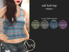 Neve Top - Cali Knit - Stripe