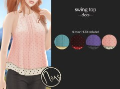 Neve Top - Swing - Dots