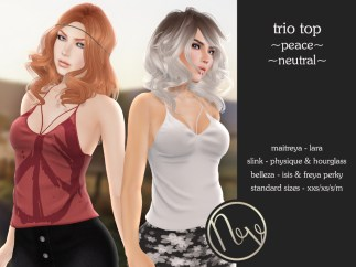 Neve Top - Trio - Peace + Neutral