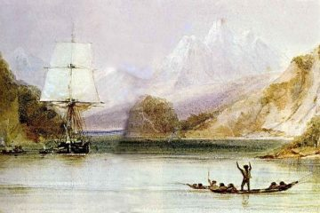 HMS Beagle at Tierra del Fuego