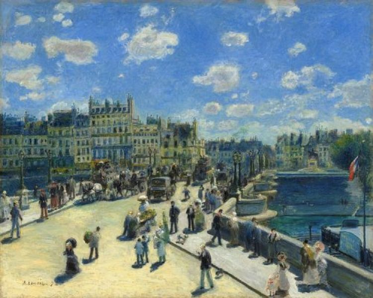 """Pont Neuf, Paris"" by Auguste Renoir (1872)"