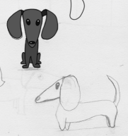 drawing of alien dogs