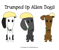 alien dogs with donald trump hair