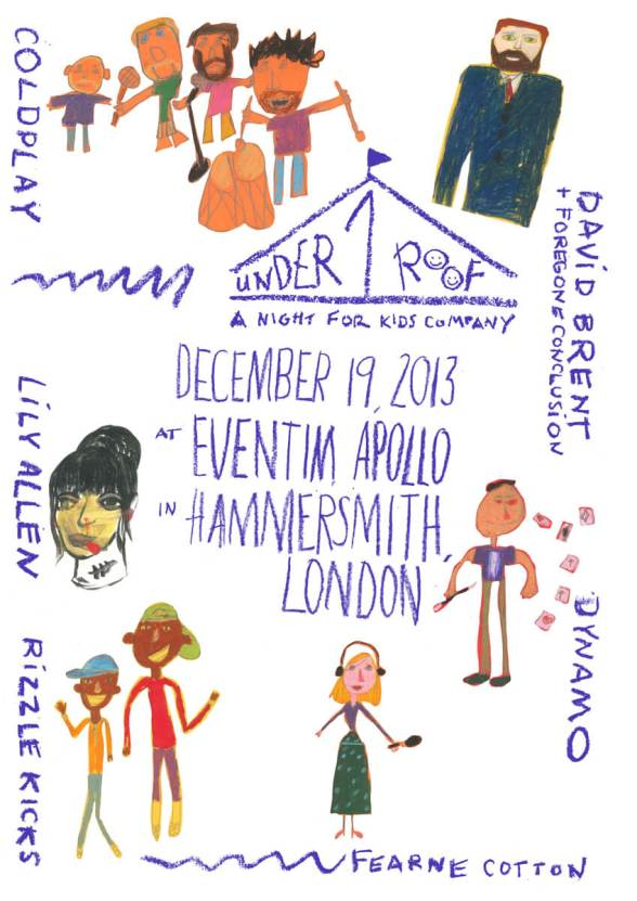 Coldplay-2013-Concert-London-Under-1-Roof-A-Night-For-Kids-Company-December-19-Eventim-Apollo-Hammersmith-Charity-David-Brent-Foregone-Conclusion-Lily-Allen-Dynamo-Rizzle-Kicks-Fearne-Cotton