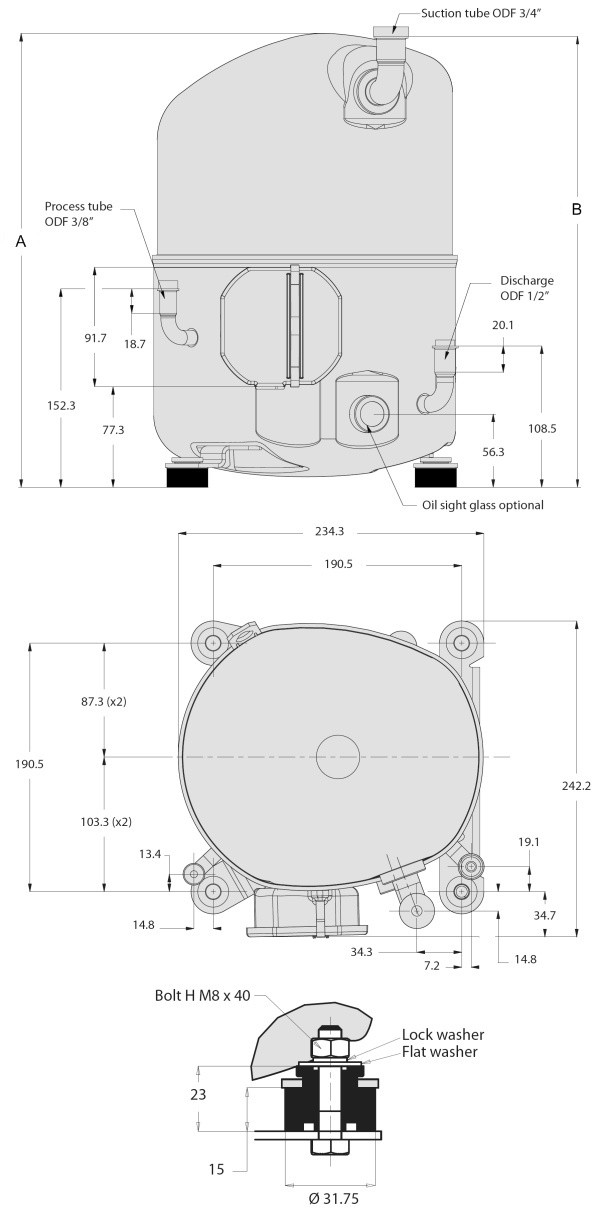mpz1 2 - Компрессор Danfoss MPZ038