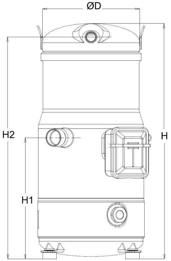 sh1 1 - Компрессор Danfoss SH161