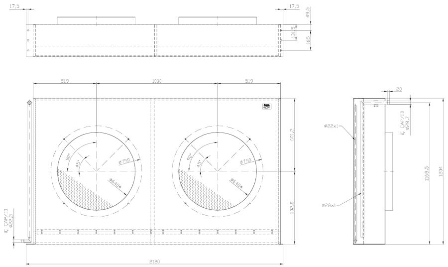 ELK75 1024x610 - Теплообменник без вентиляторов Karyer ELK 75
