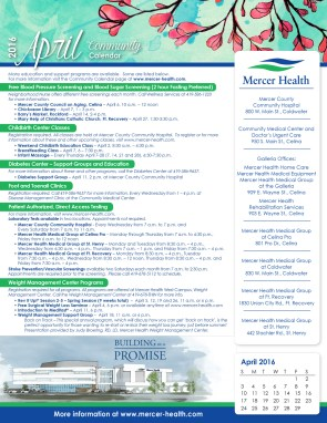 Mercer Health April Events