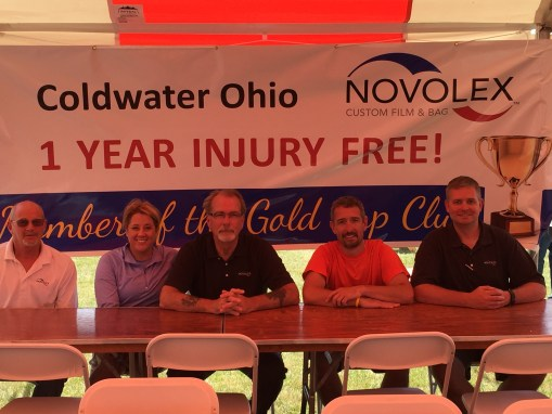 On Saturday, July 9th, the Novolex location (formally known as Accutech Films) celebrated 1 year of injury free in their Coldwater Ohio location.