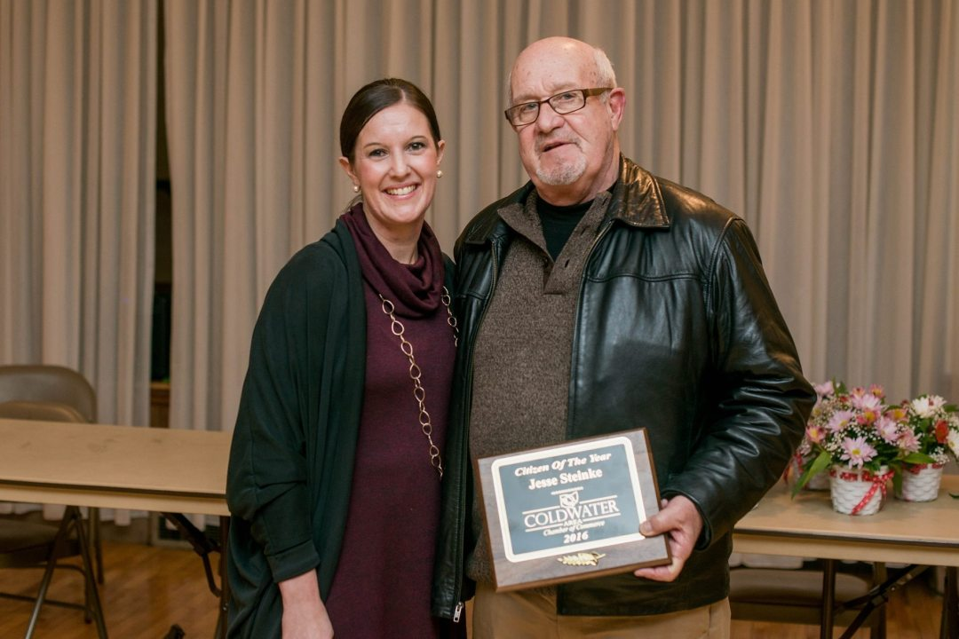Volunteers of the Year Jess Steinke and Rob Fisher (not pictured)