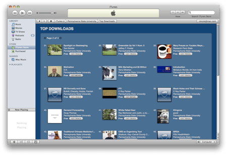 PSU on iTunes U: Top Downloads