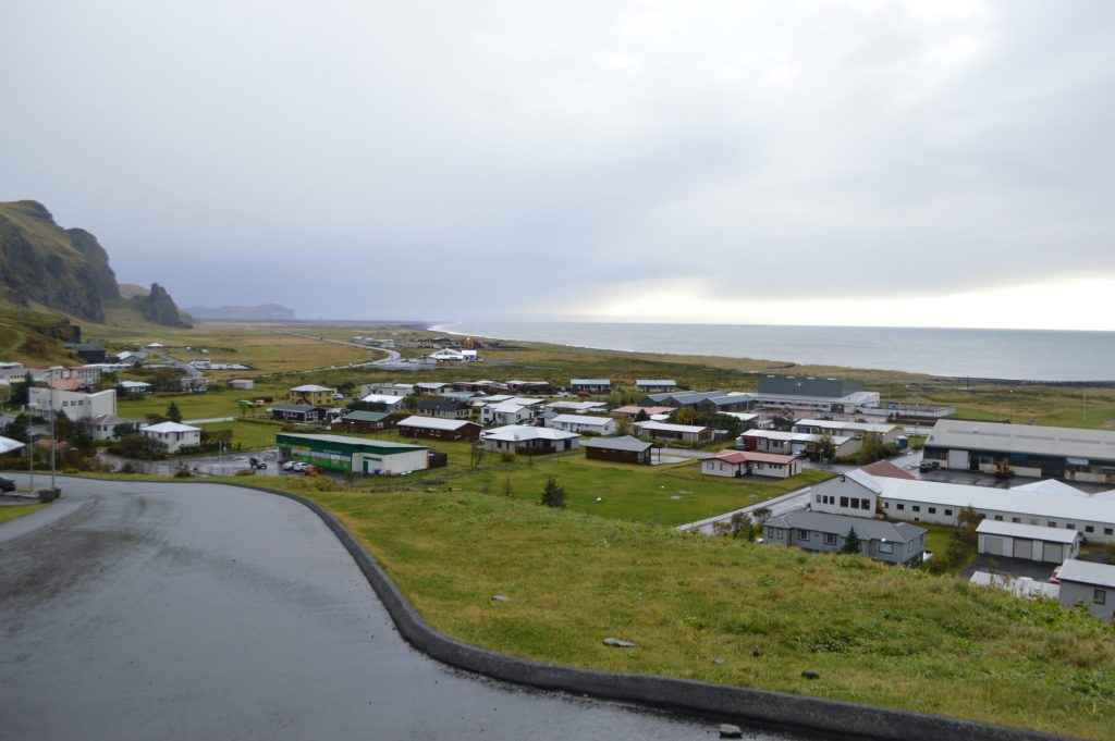 Overview of Vík í Mýrdal