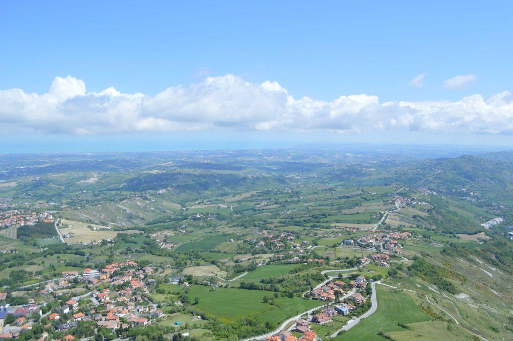 Vistas de San Marino desde Guaita