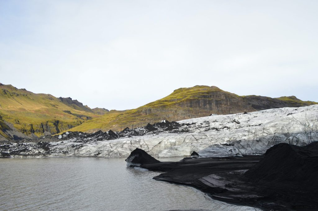 View of Mýrdalsjökull Glacier from the shore