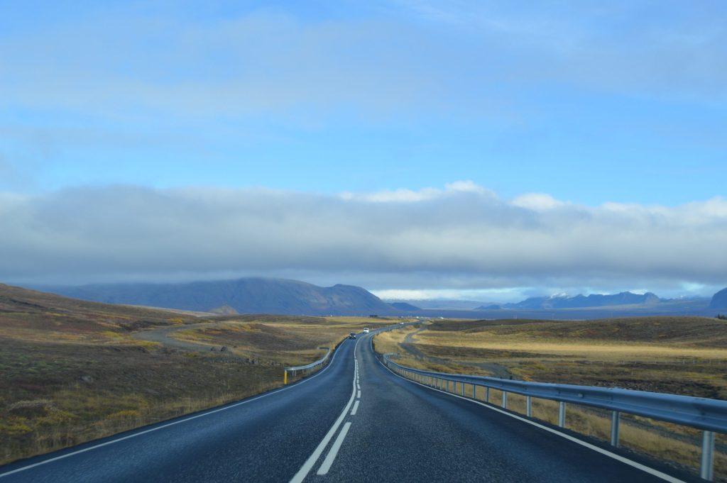 Road towards Þingvellir National Park