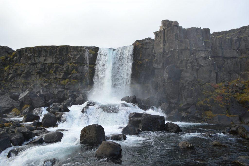 Waterfall in Þingvellir National Park